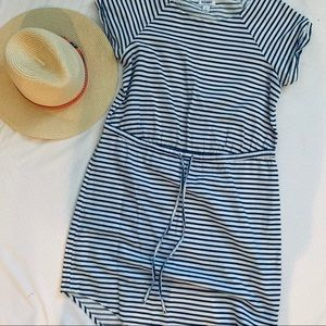 Striped Twill s/s Sundress, Size S